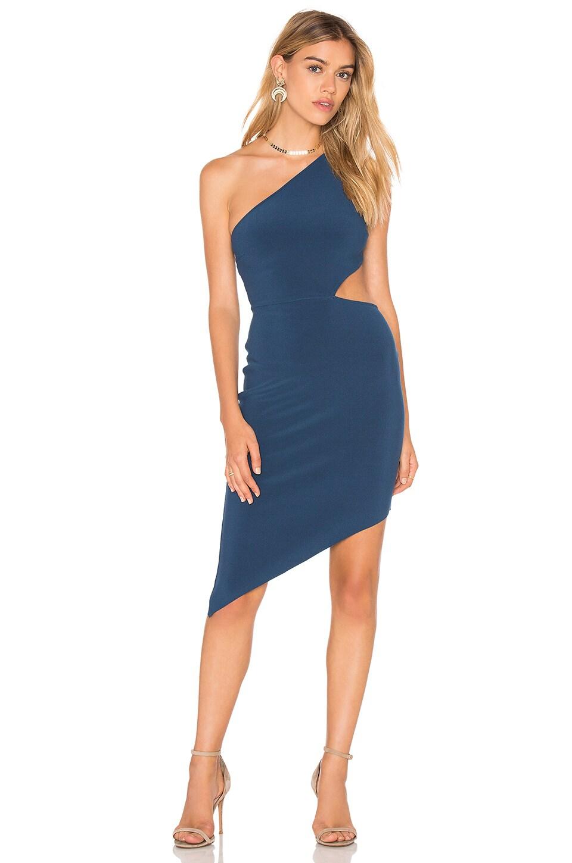 BEC&BRIDGE Lucienne Asymmetrical Dress in Petrol