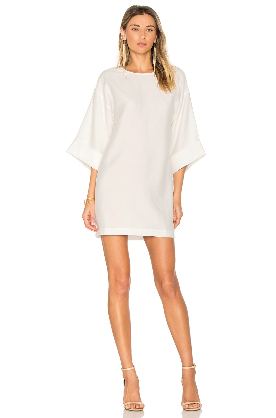 BEC&BRIDGE White Rock Dress in Ivory