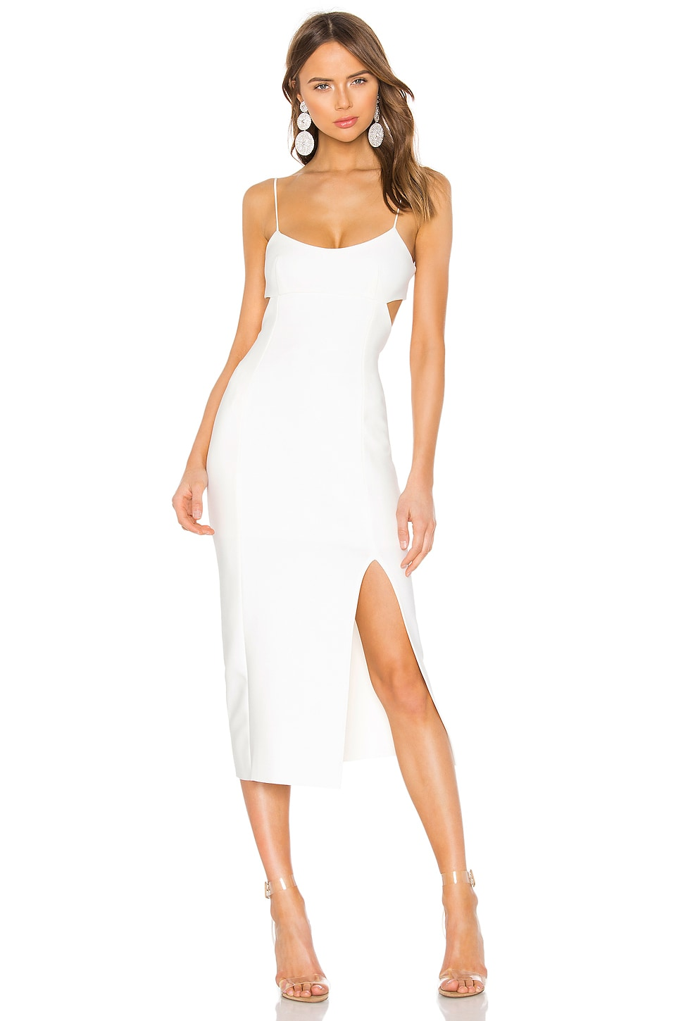 BEC&BRIDGE Amelie Panel Midi Dress in Ivory