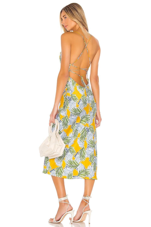 BEC&BRIDGE Palm Paradise Midi Dress in Print