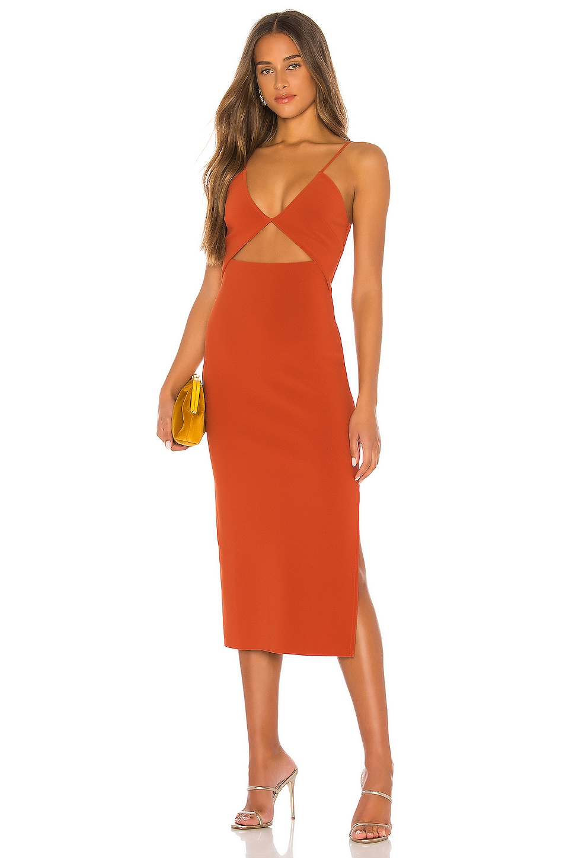 BEC&BRIDGE Ruby Midi Dress in Rust