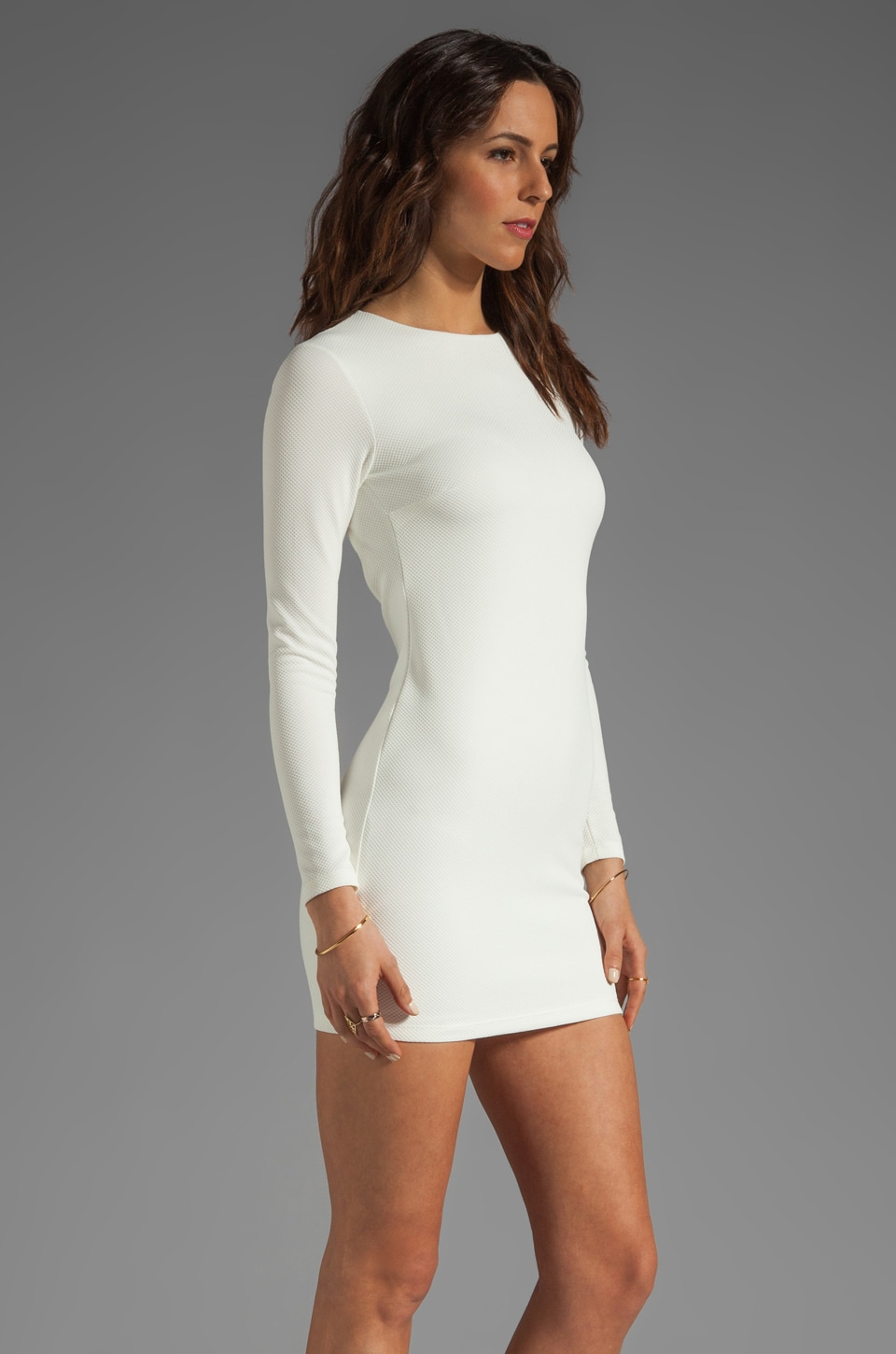 Long Sleeve Backless Dress