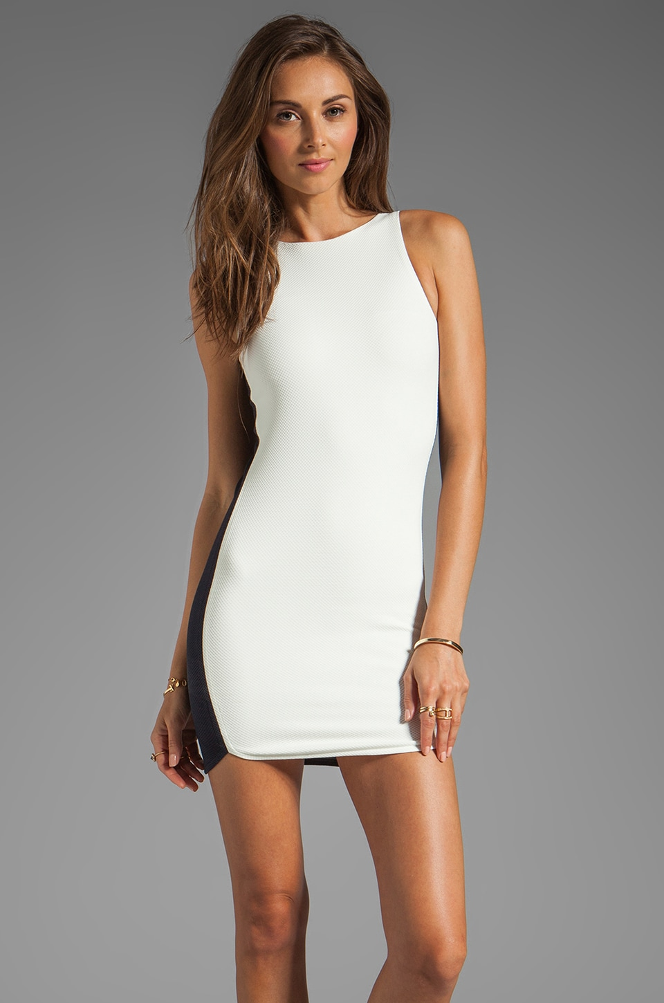 BEC&BRIDGE Abella Mini Dress in Contrast