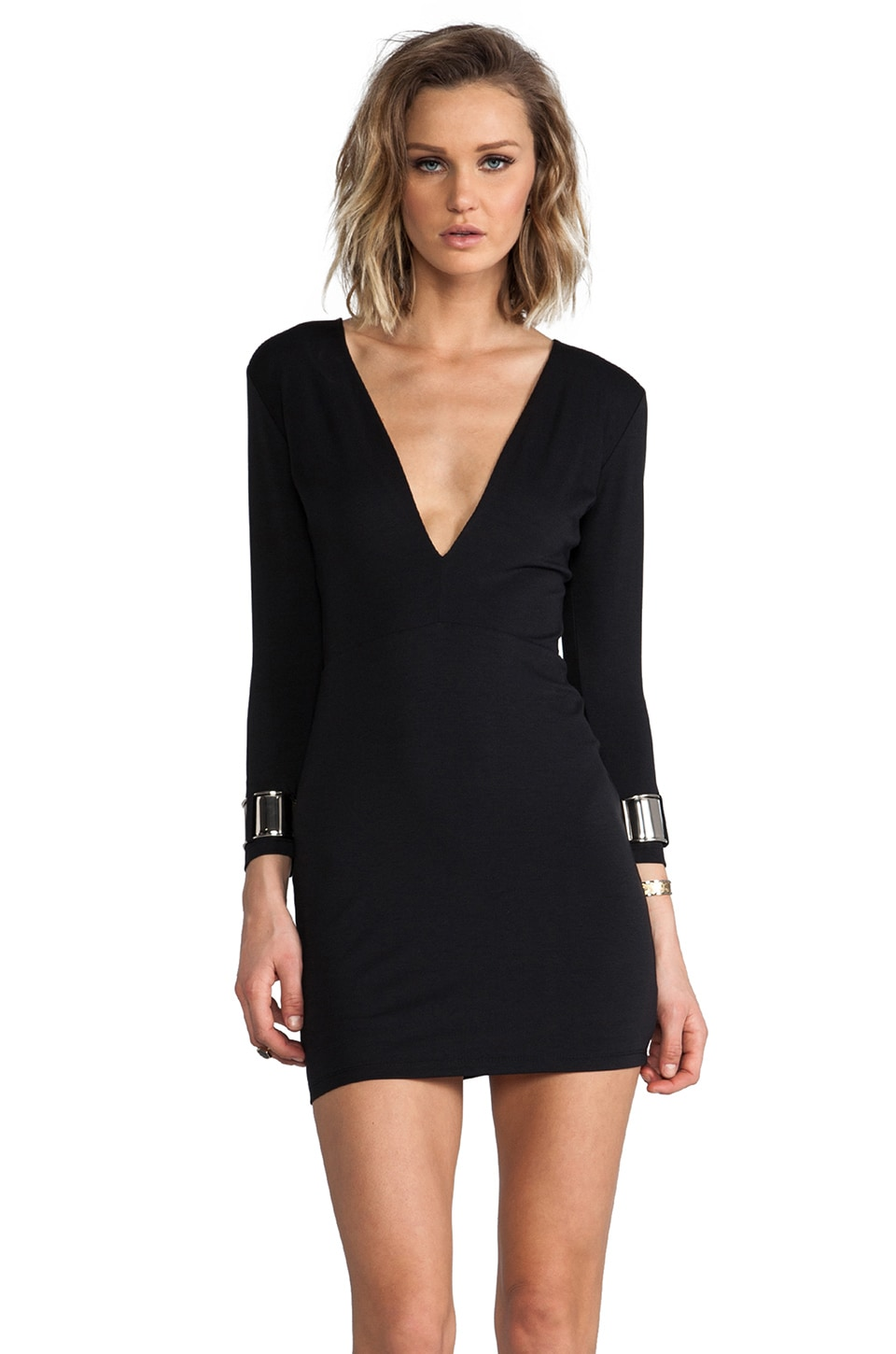 BEC&BRIDGE Exclusive Jaguar Long Sleeve Cuff Dress in Black