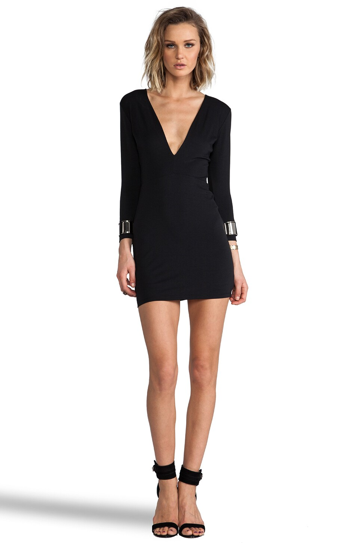 BEC&BRIDGE Exclusive Jaguar Long Sleeve Cuff Dress in Black
