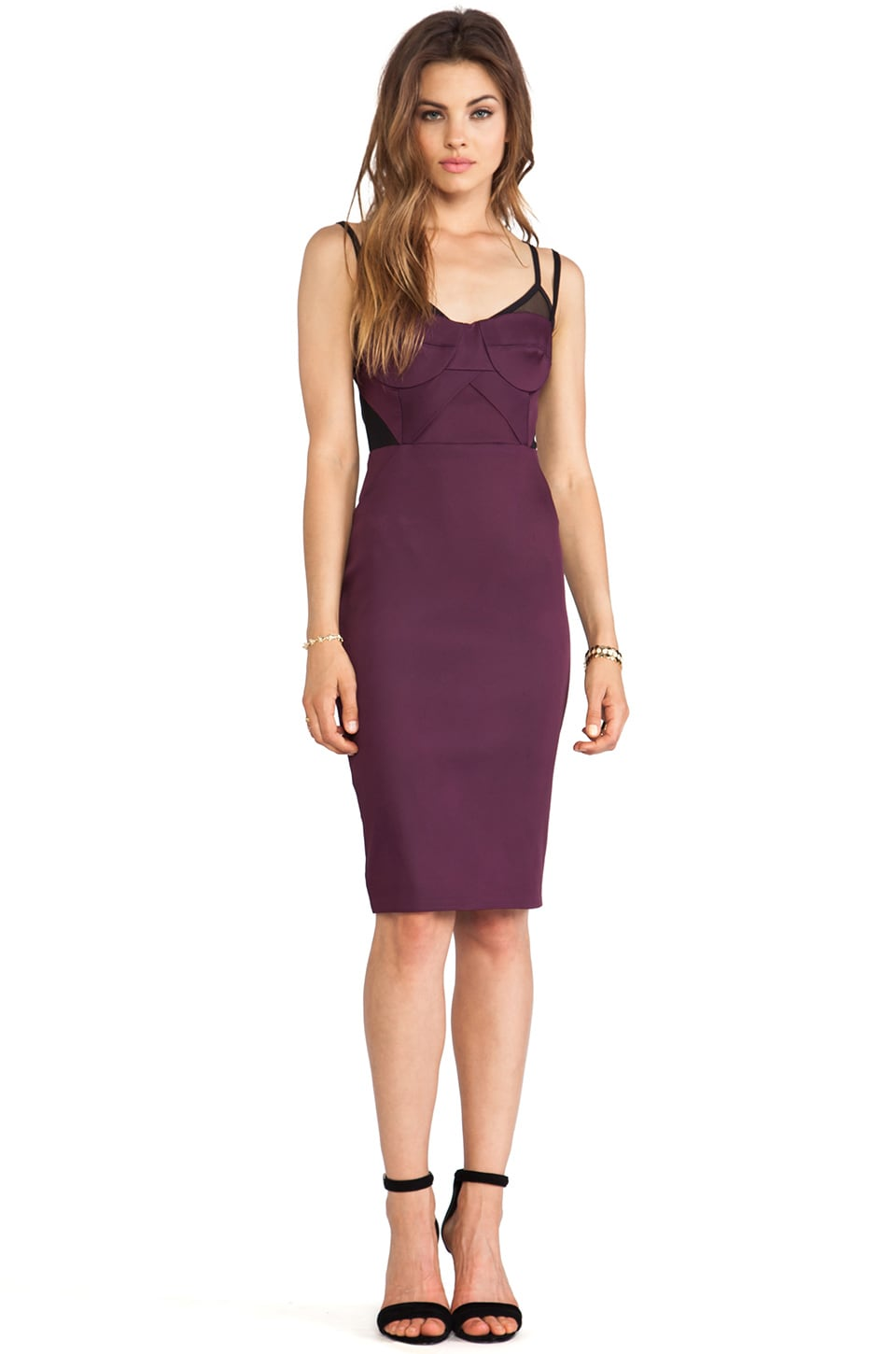 BEC&BRIDGE Helena Bustier Dress in Plum