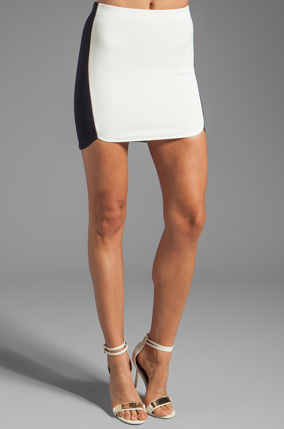 BEC&BRIDGE Abella Mini Skirt in Contrast