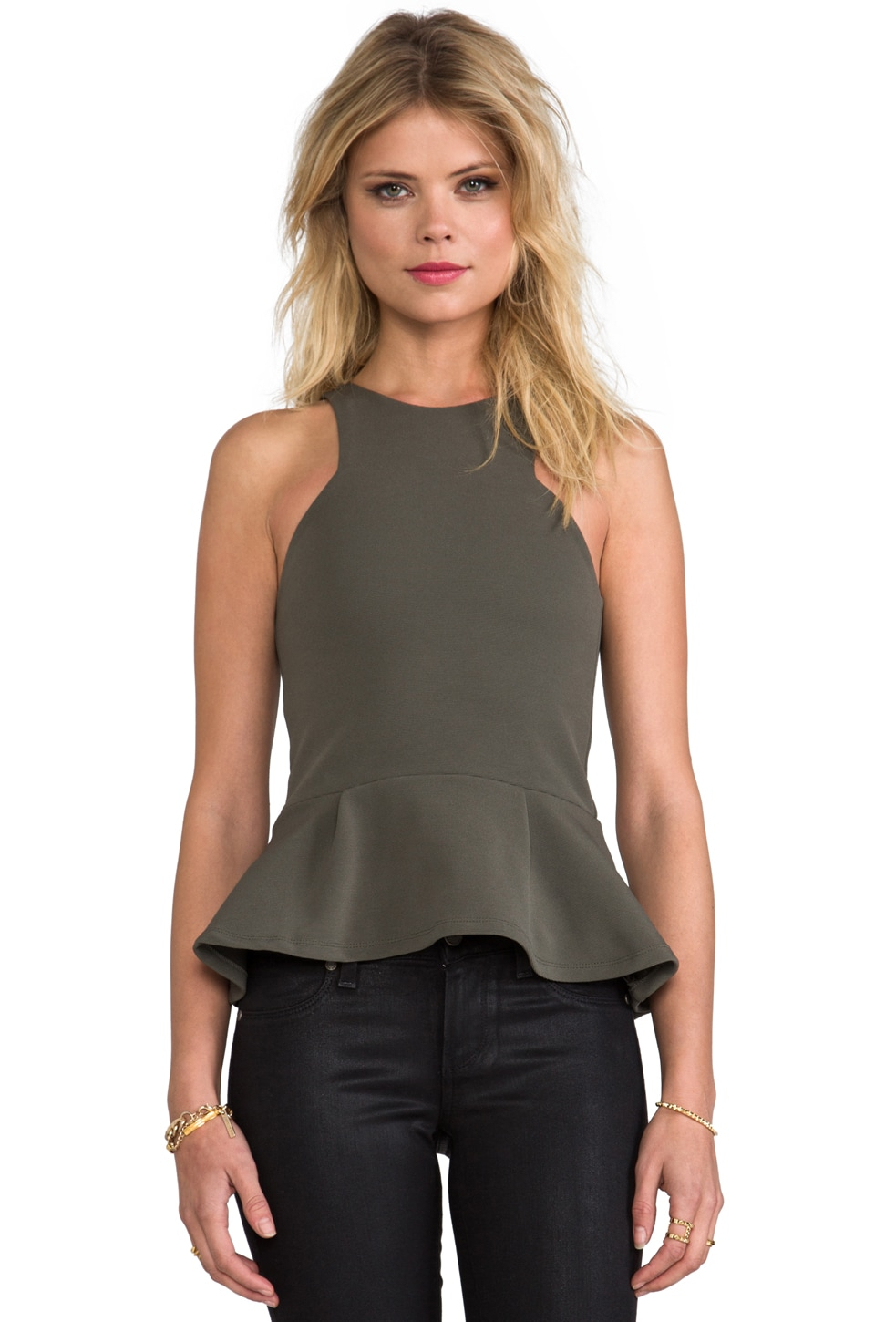 BEC&BRIDGE Imperial Peplum Top in Army