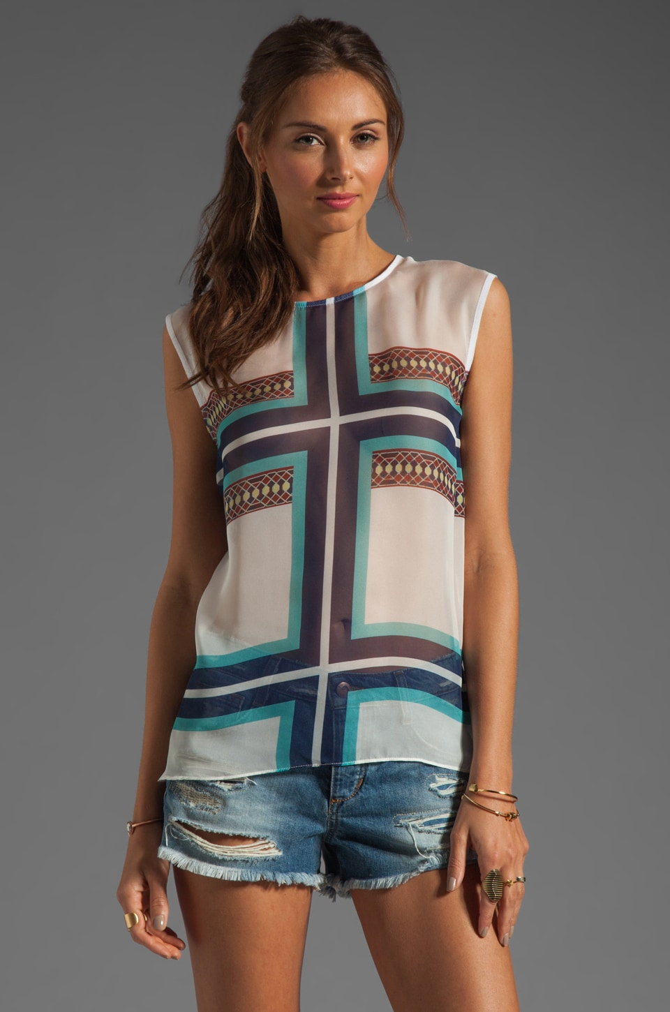 BEC&BRIDGE Palacio Tank in Tile Print