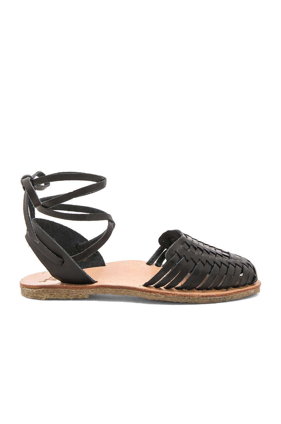 Beek The Parakeet Sandal in Black & Natural