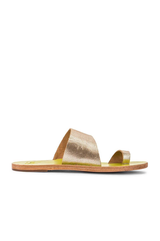 Beek Finch Sandal in Platinum & Citrus