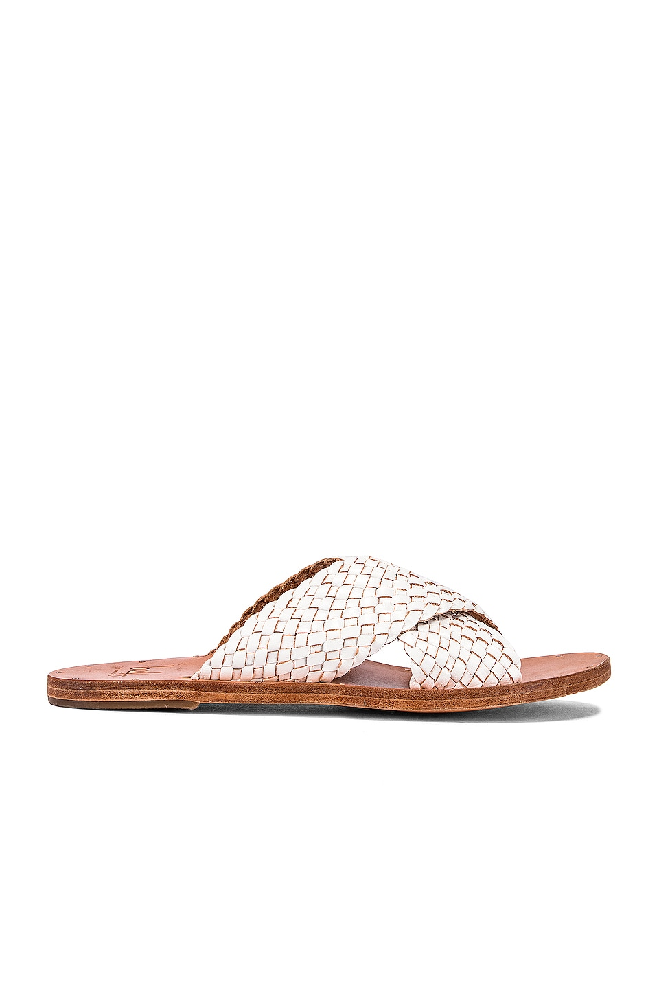 Beek Plover Slide in White & Tan