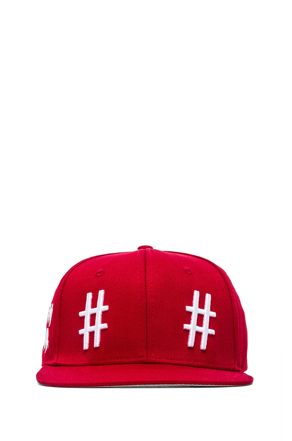 Been Trill Team Hat in Red and White