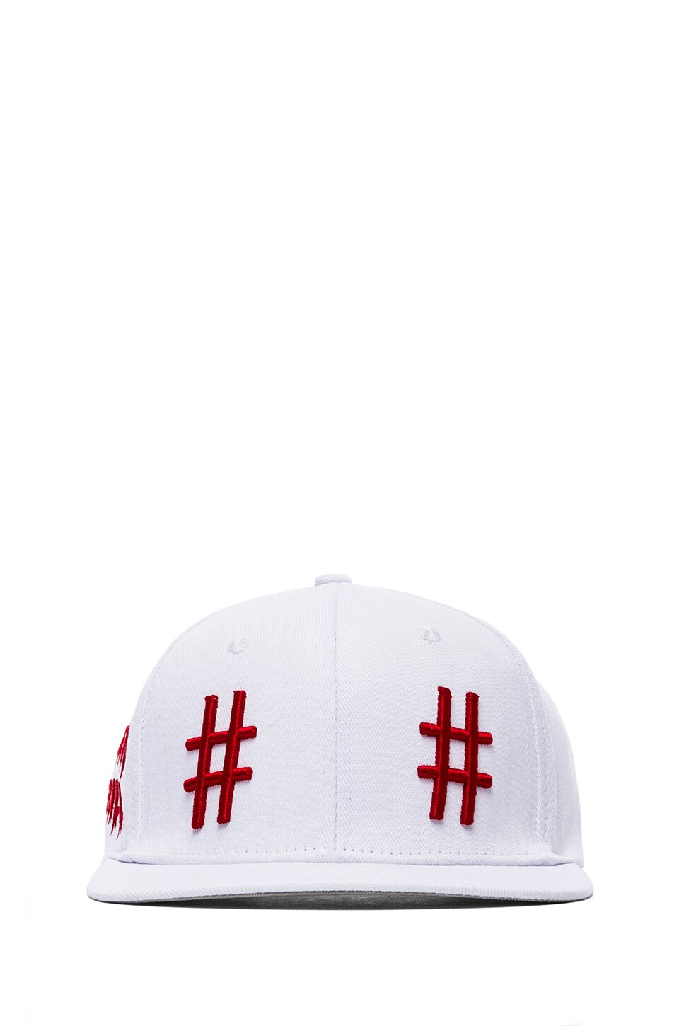 Been Trill Team Hat in White and Red