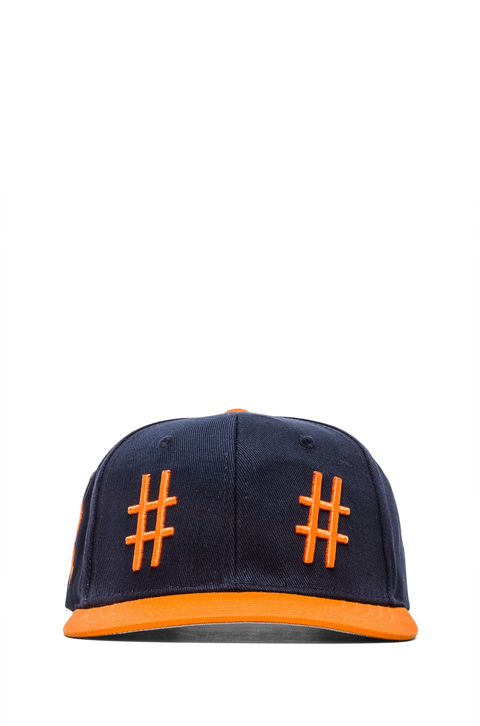 Been Trill Team Hat in Navy and Orange