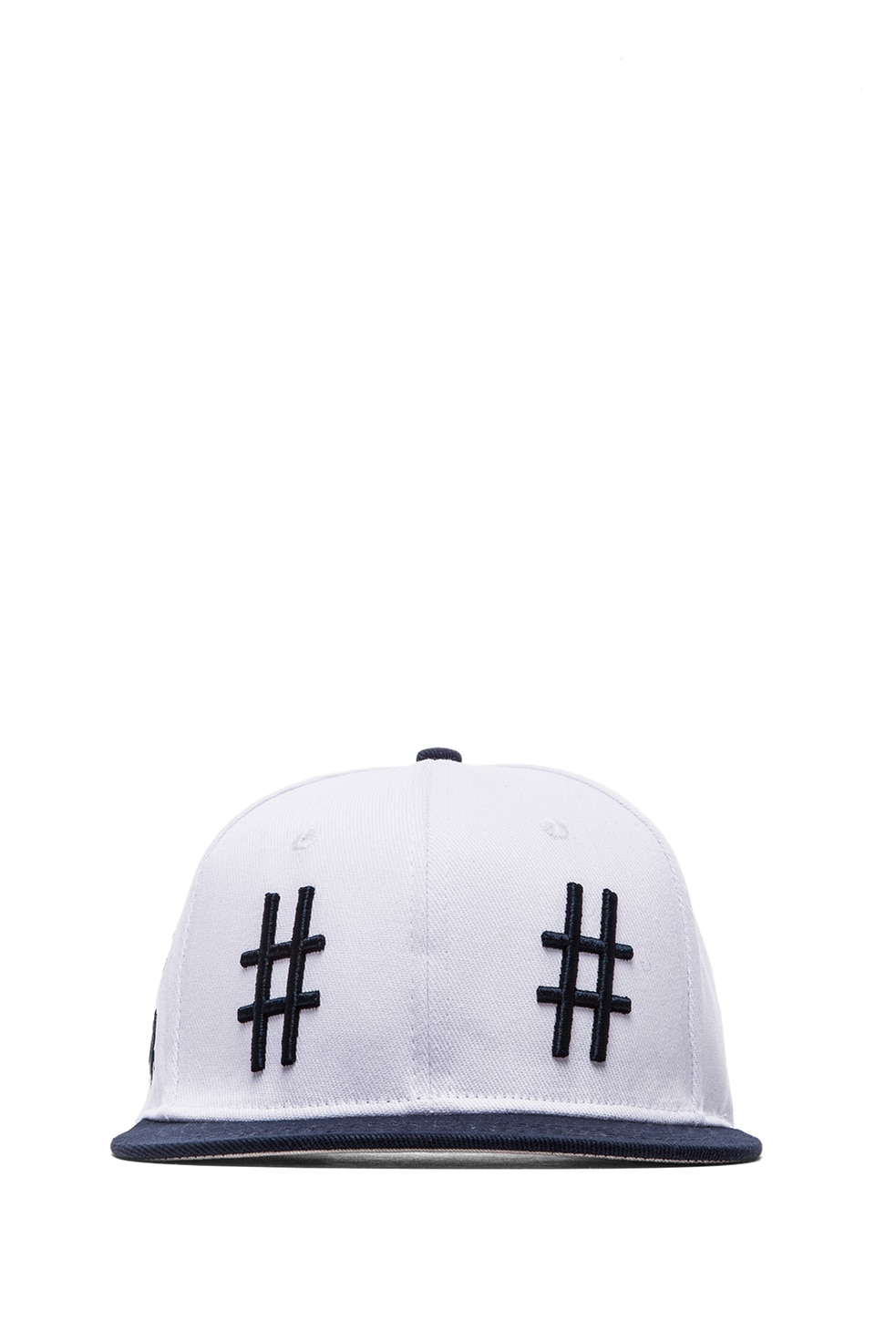 Been Trill Team Hat in White and Navy