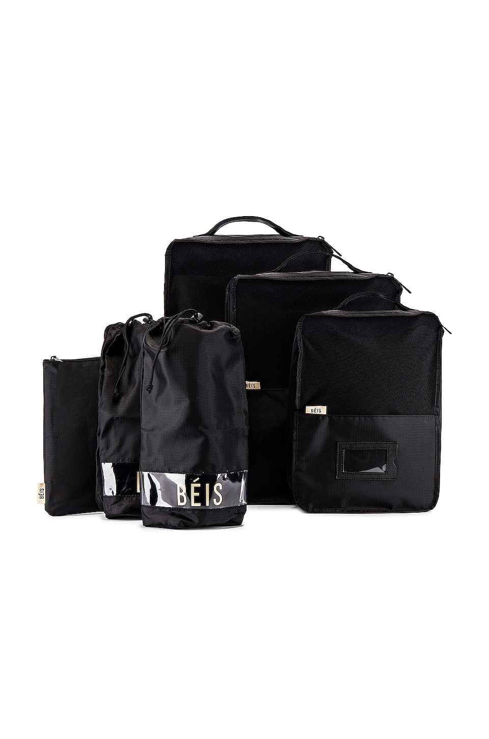 BEIS Packing Cube Set in Black