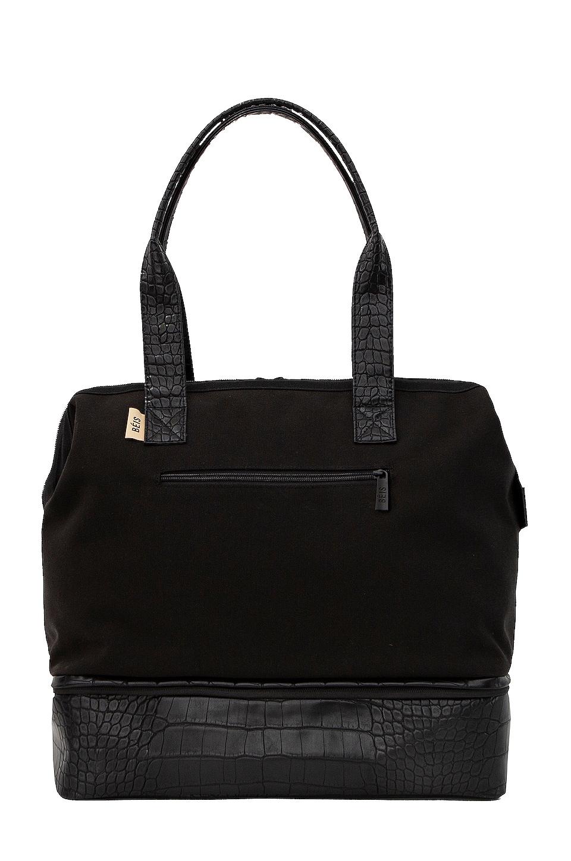 BEIS Mini Weekend Bag in Black & Croc Trim