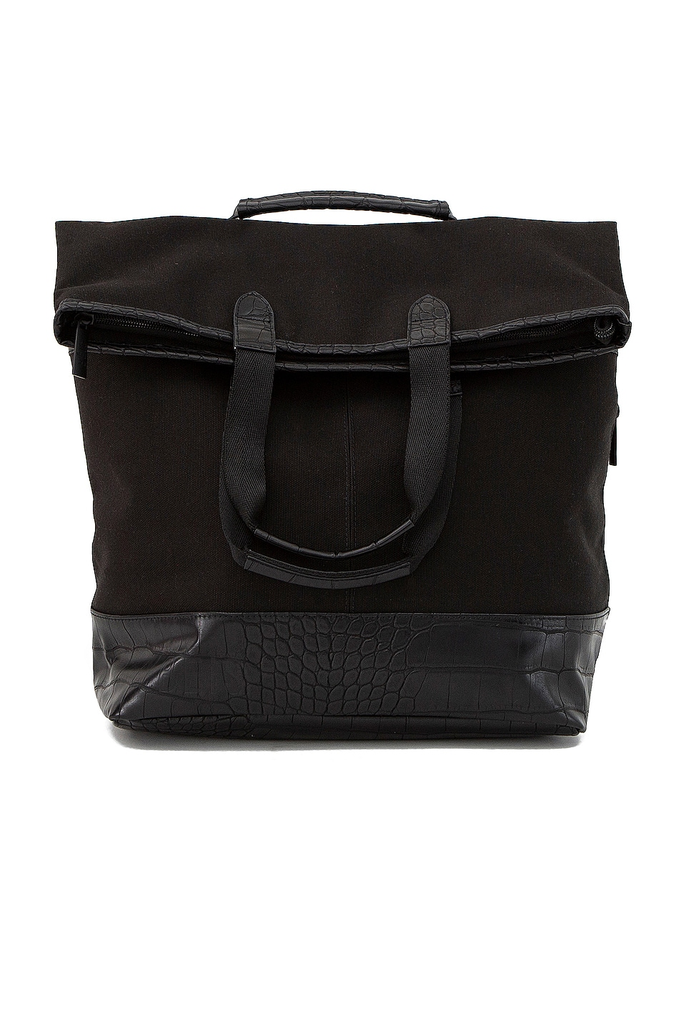 BEIS Convertible Backpack in Black & Croc Trim