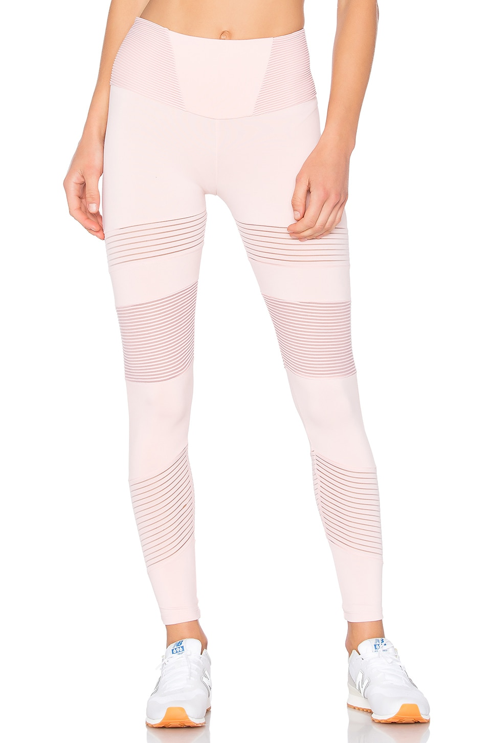 BELOFORTE Stripe Block Legging in Blush