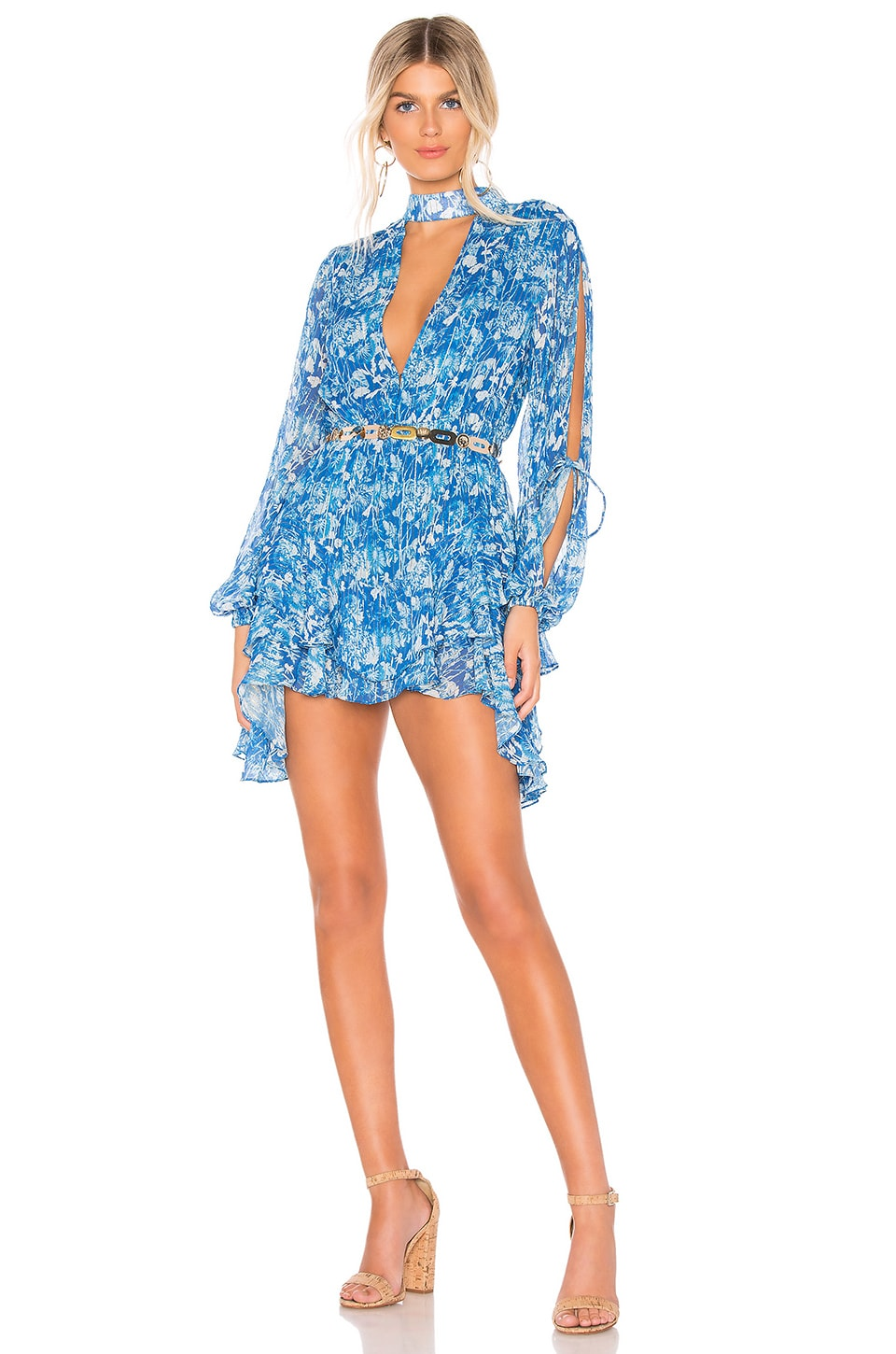 HEMANT AND NANDITA x REVOLVE Mini Dress in Blue