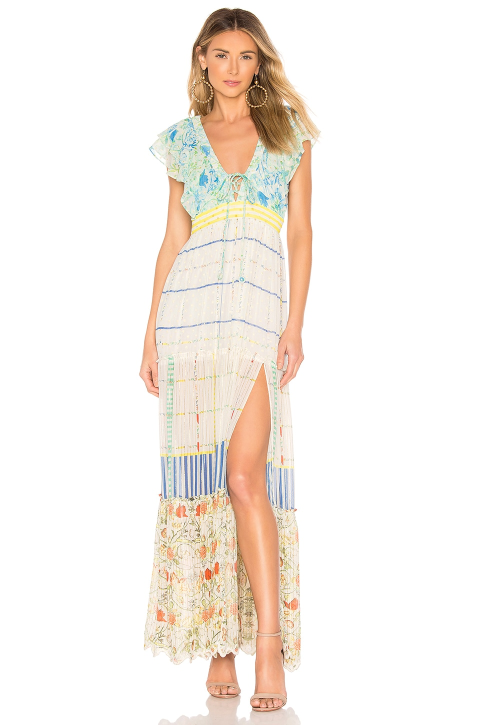HEMANT AND NANDITA Odyssey Maxi Dress in Multi Color