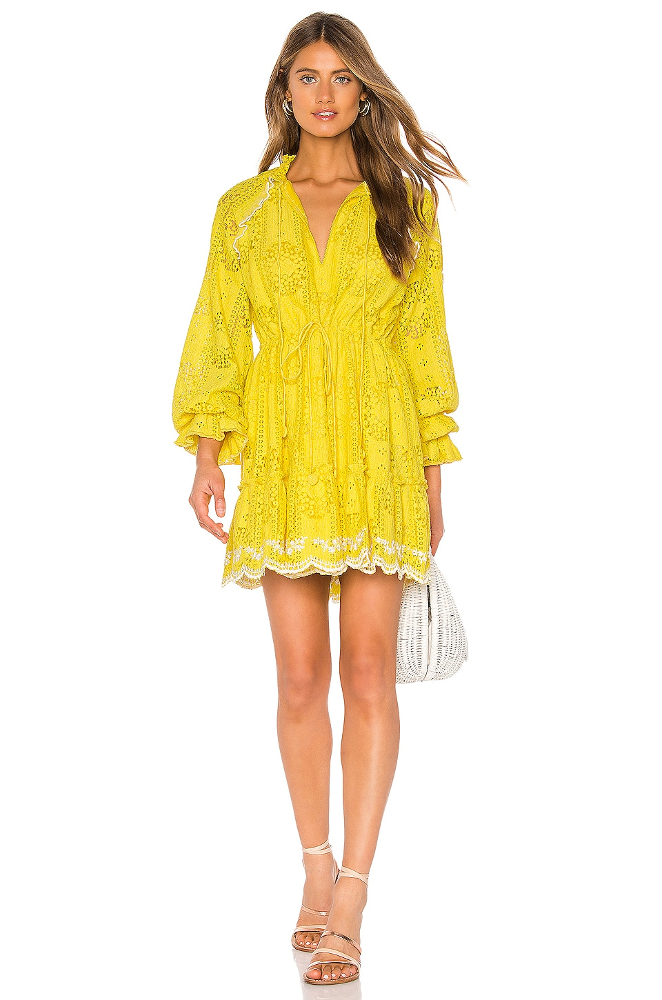 HEMANT AND NANDITA Sol Mini Dress in Yellow