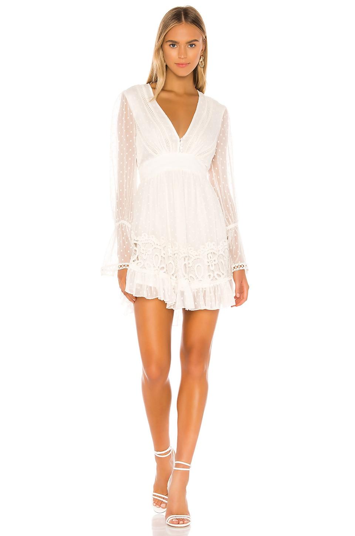 HEMANT AND NANDITA Cleo Mini Dress in White