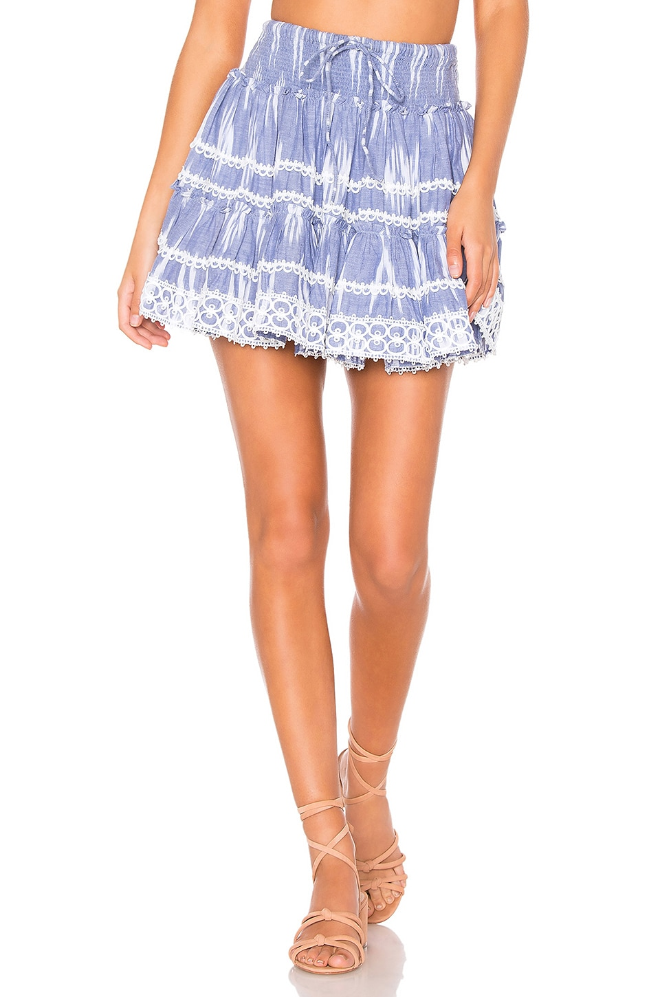 HEMANT AND NANDITA Mini Skirt in Blue