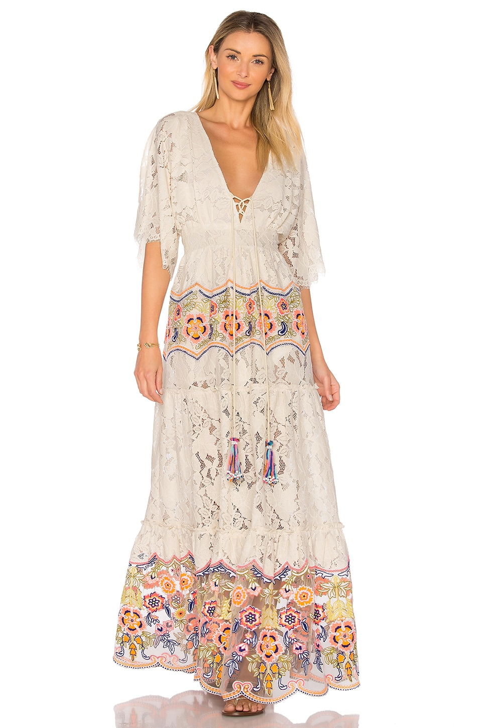 HEMANT AND NANDITA Aurora Maxi Dress in Off White