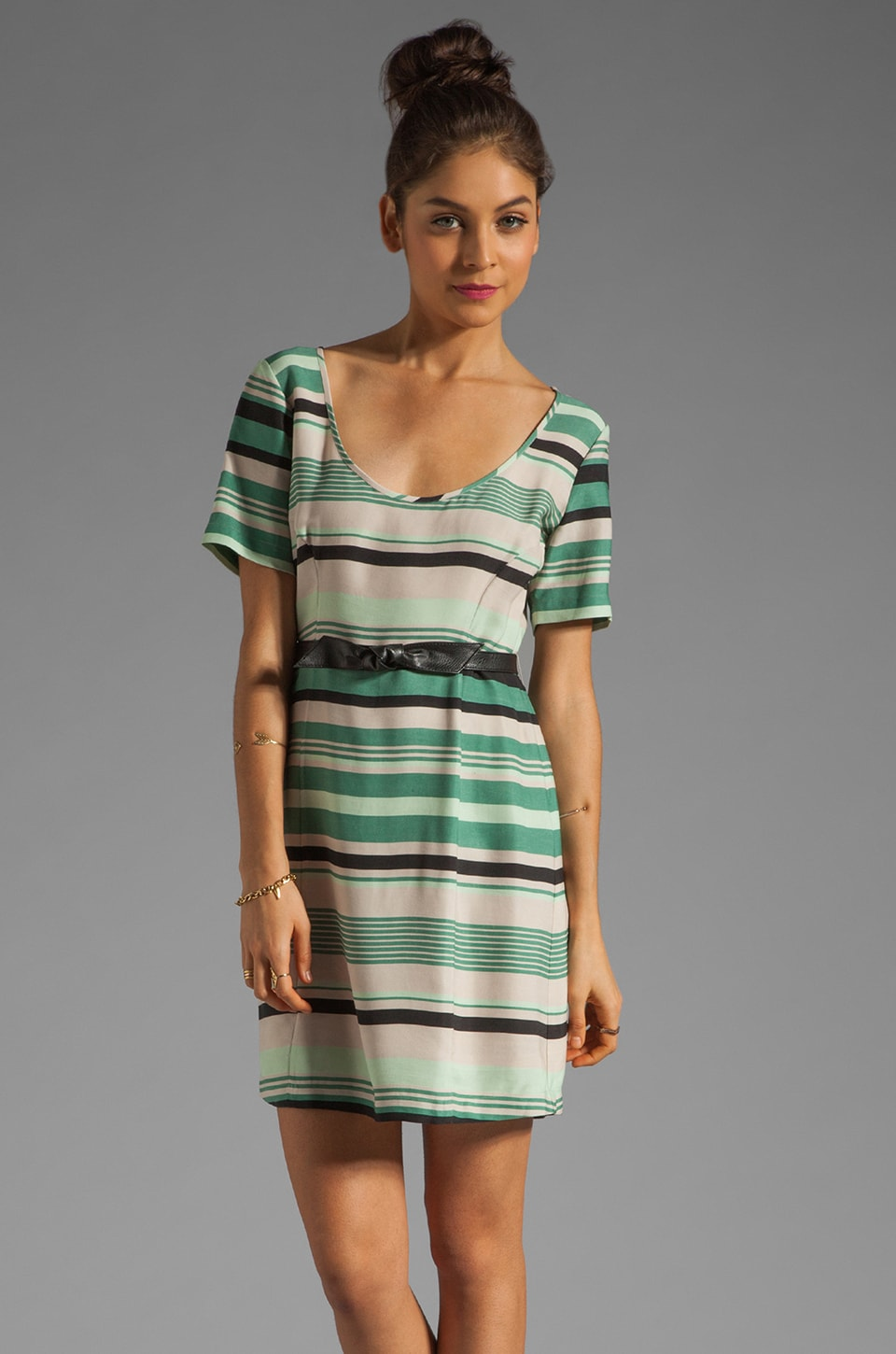 Beyond Vintage Striped Shift Dress in Charlie