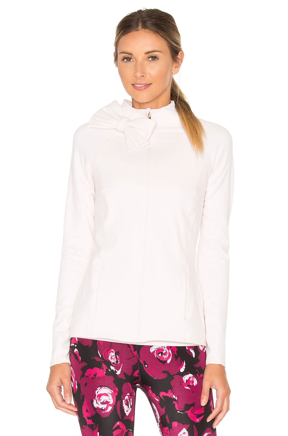 Beyond Yoga x Kate Spade Neck Bow Jacket in Ballet Slipper
