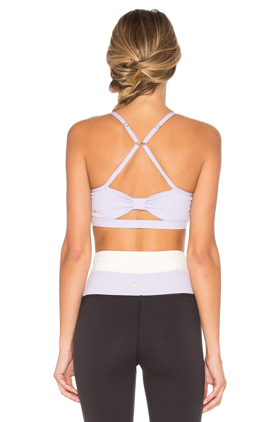 BEYOND YOGA X KATE SPADE CINCHED BOW BRA