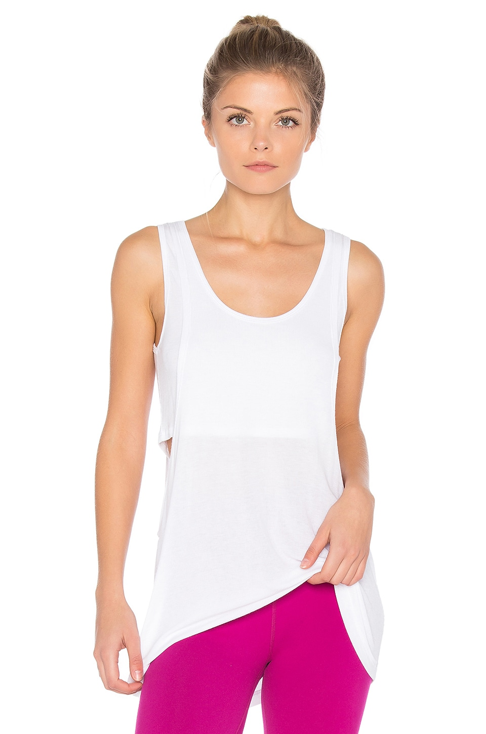 On And Off Ribbed 2 Fer Tank by Beyond Yoga