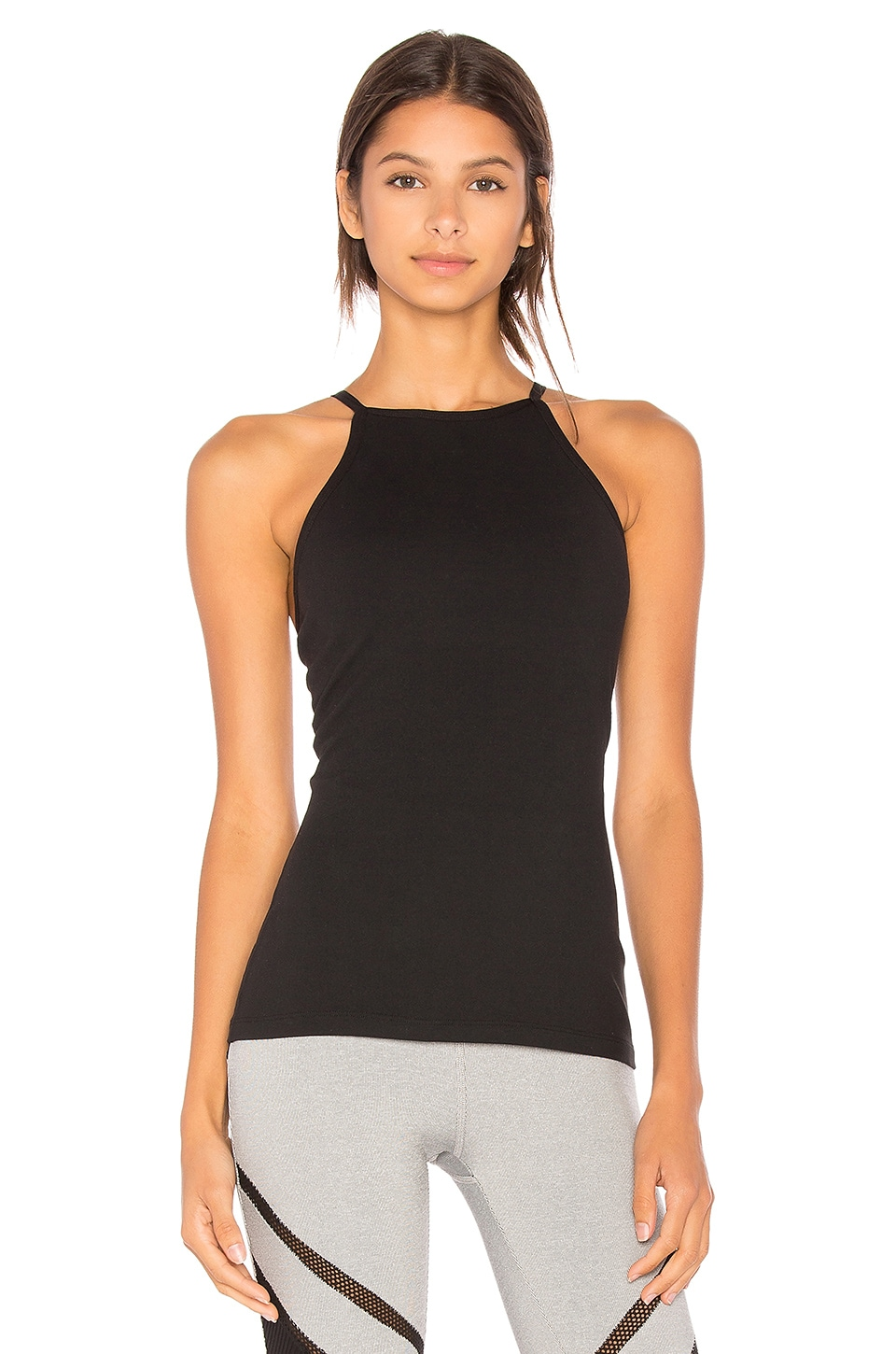 Beyond Yoga Open Back Tank in Jet Black