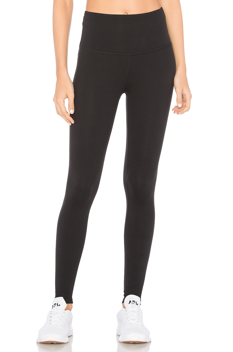Beyond Yoga High Waisted Midi Legging in Jet Black