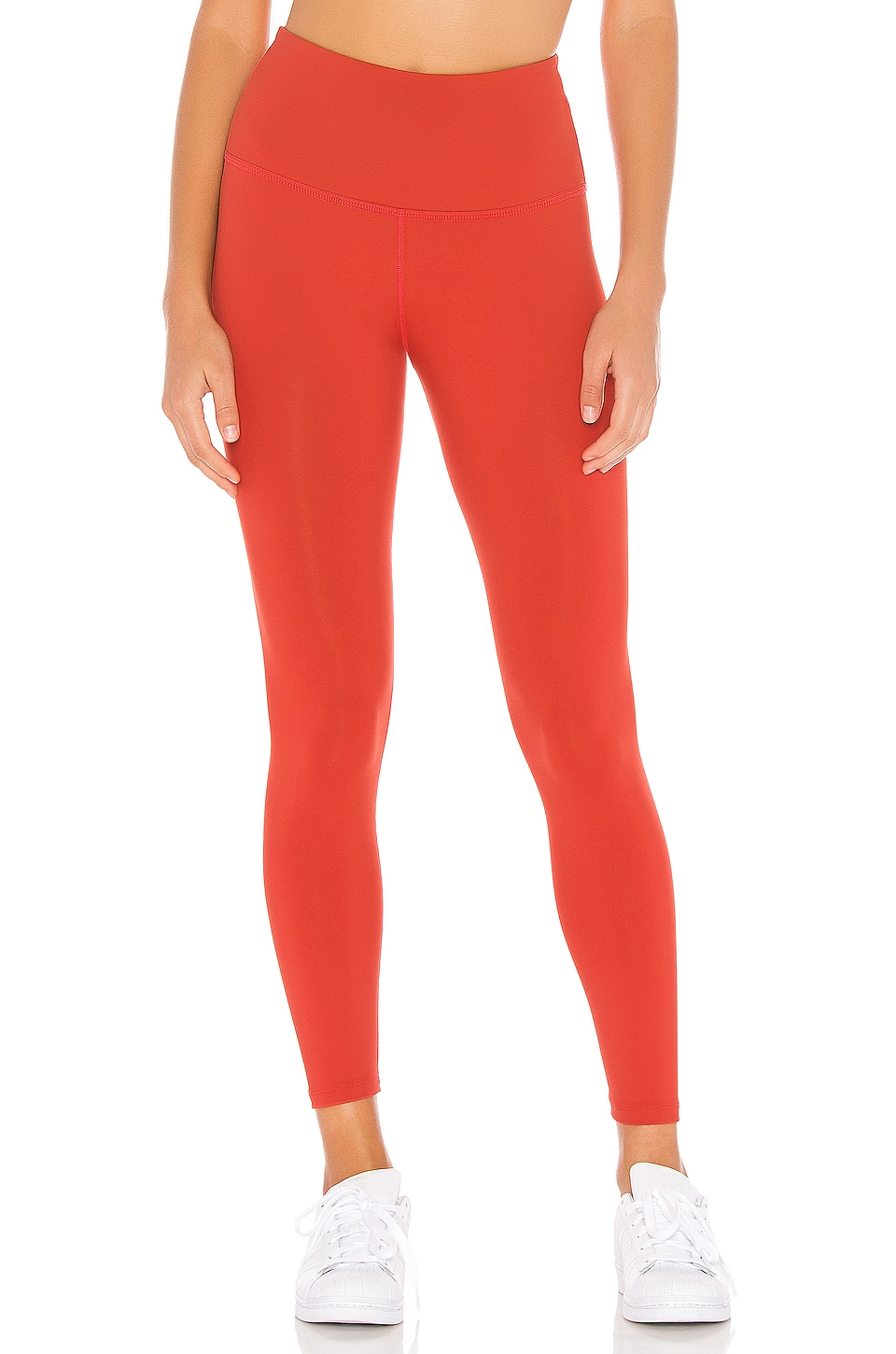 Beyond Yoga Sportflex High Waisted Midi Legging en Scarlet Sun