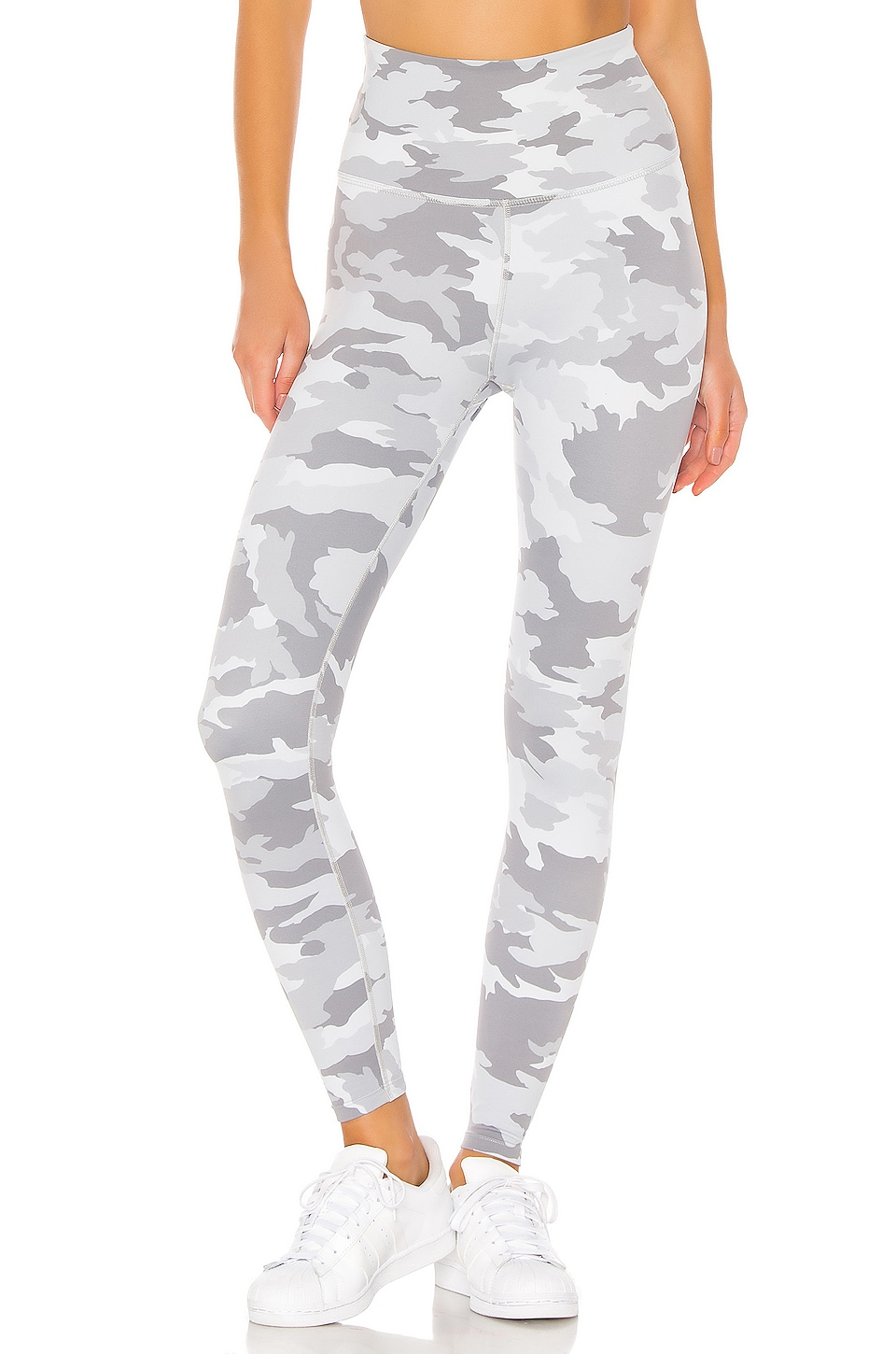 Beyond Yoga Olympus High Waisted Midi Legging in Gray Camo
