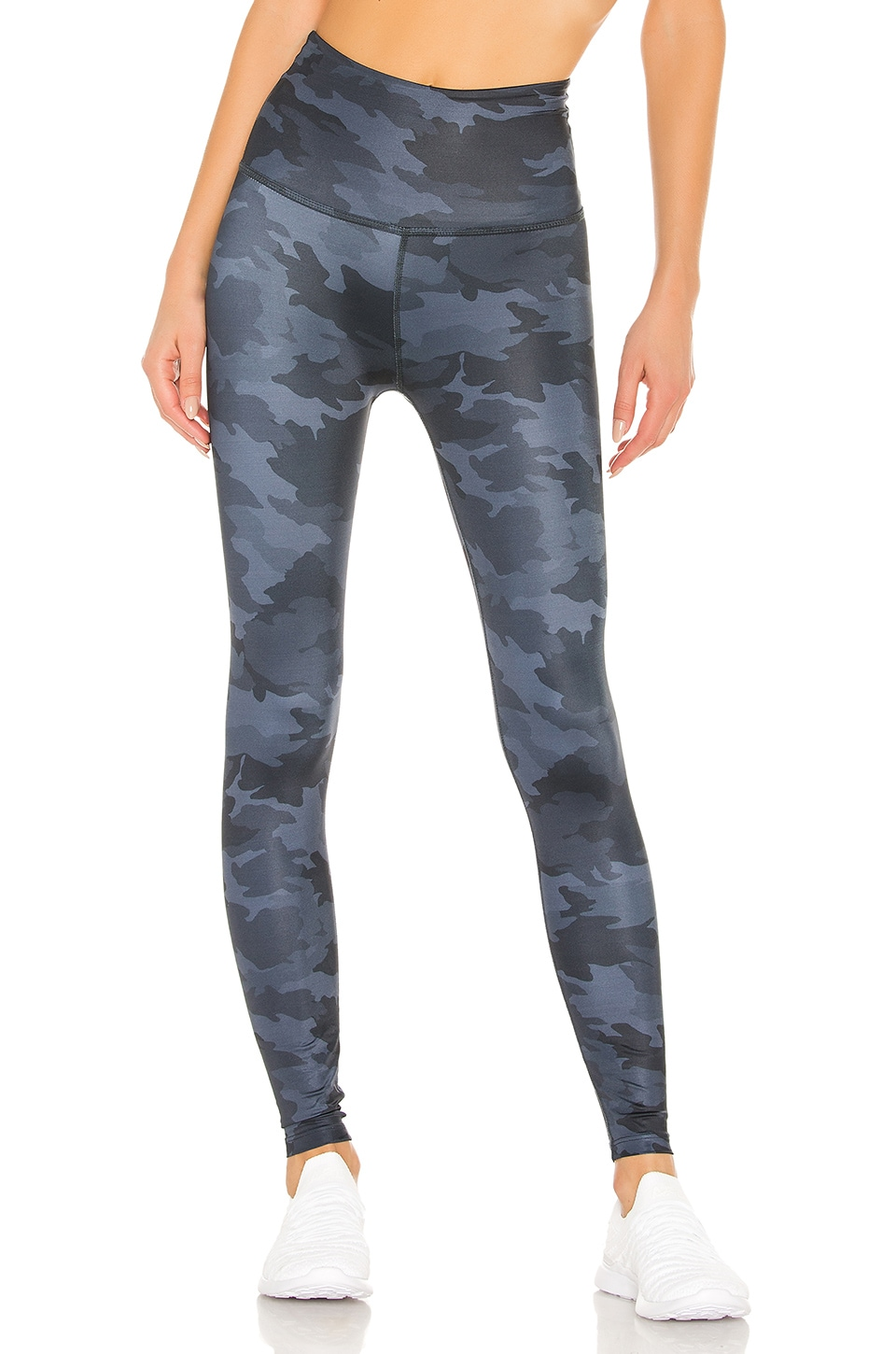 Beyond Yoga Lux High Waisted Midi Legging in Navy Camo