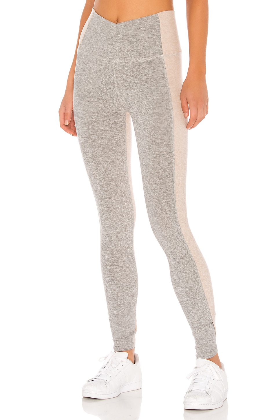 Beyond Yoga Spacedye Home Run High Waisted Midi Legging in Silver Mist