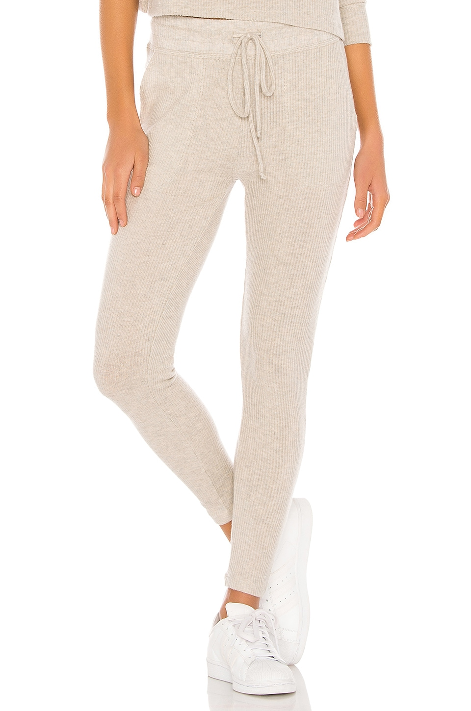 Beyond Yoga Your Line Buttoned Midi Sweatpant in Oatmeal Heather
