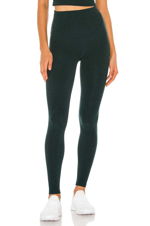 Beyond Yoga Spacedye Take Me Higher Long Legging in Hunter Green & Nocturnal Navy
