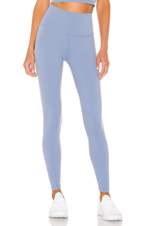 Beyond Yoga Caught In The Midi High Waisted Legging in Serene Blue