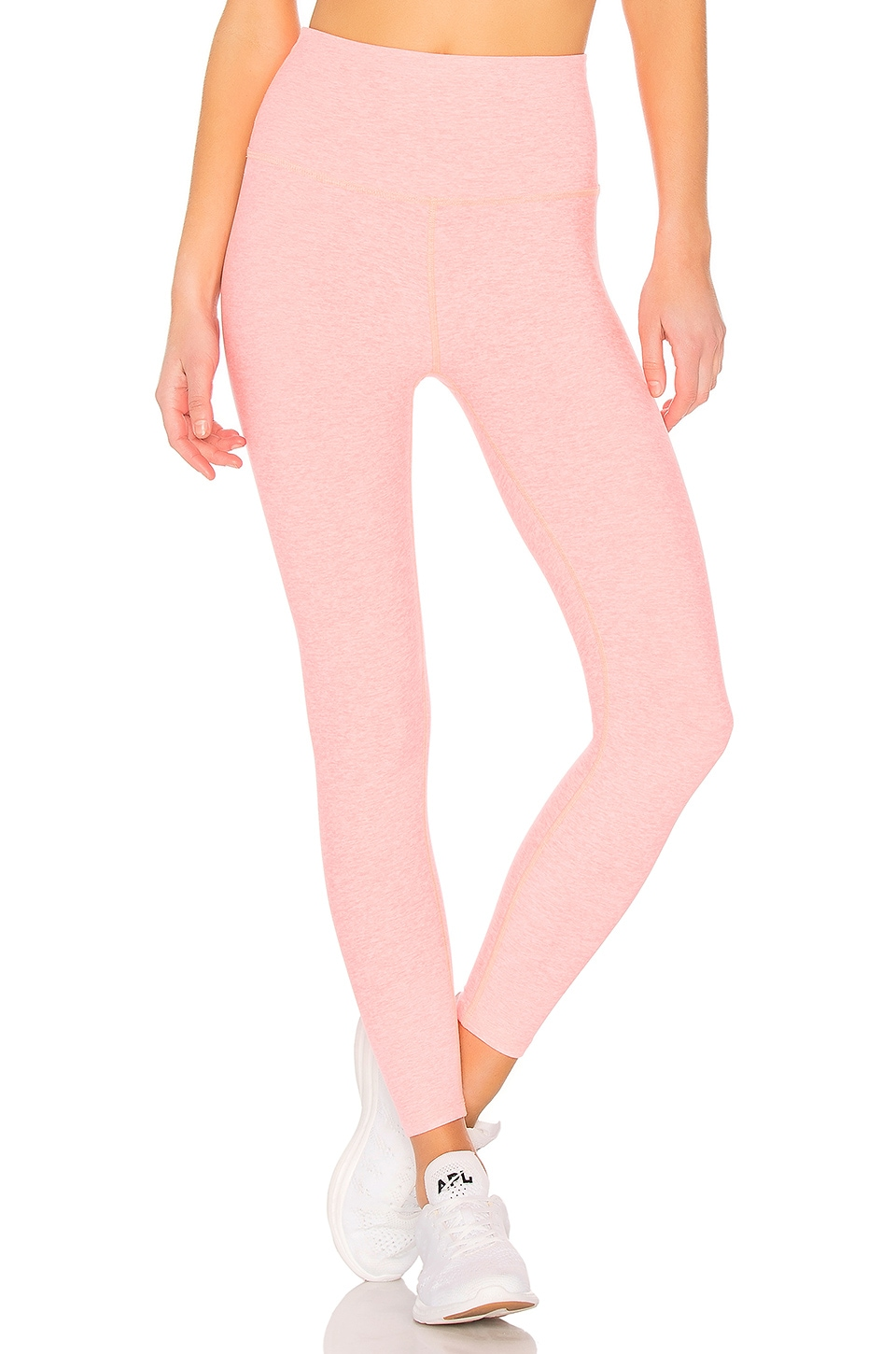 Beyond Yoga Spacedye High Waisted Midi Legging in Coral Fusion
