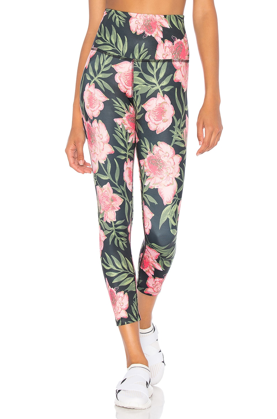 bcb8327e14ebf1 Beyond Yoga Lux Print High Waisted Capri Legging in Protea Vine ...