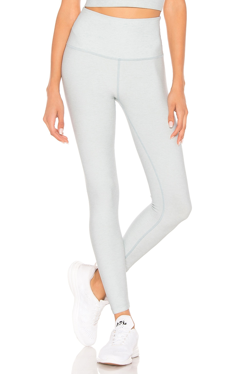 Beyond Yoga Spacedye Caught In The Midi High Waisted Legging in Glacier White