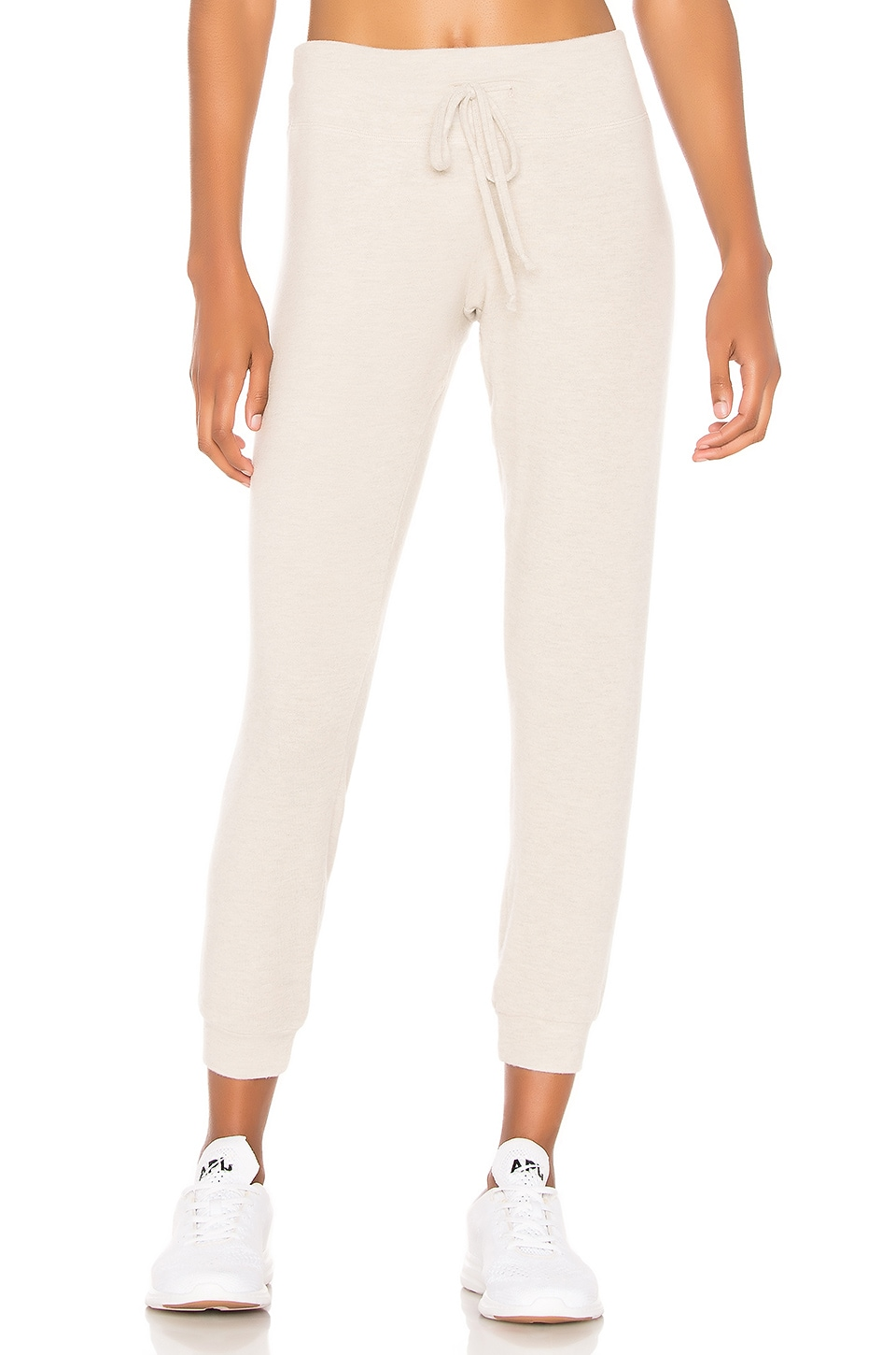 Beyond Yoga Lounge Around Midi Jogger in Oatmeal Heather