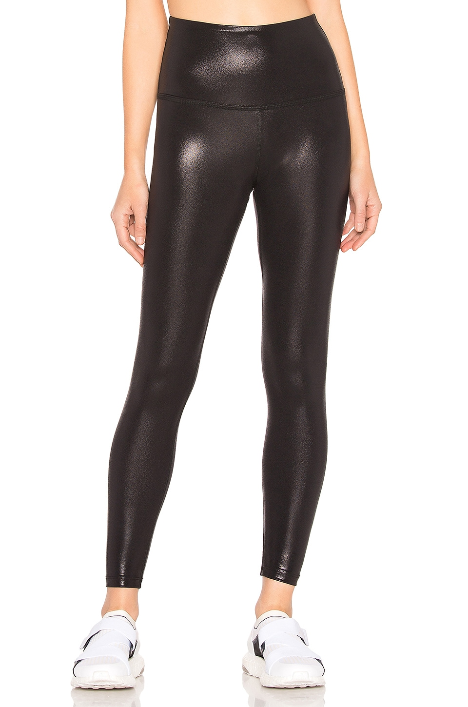 Beyond Yoga Pearlized High Waisted Midi Legging in Black