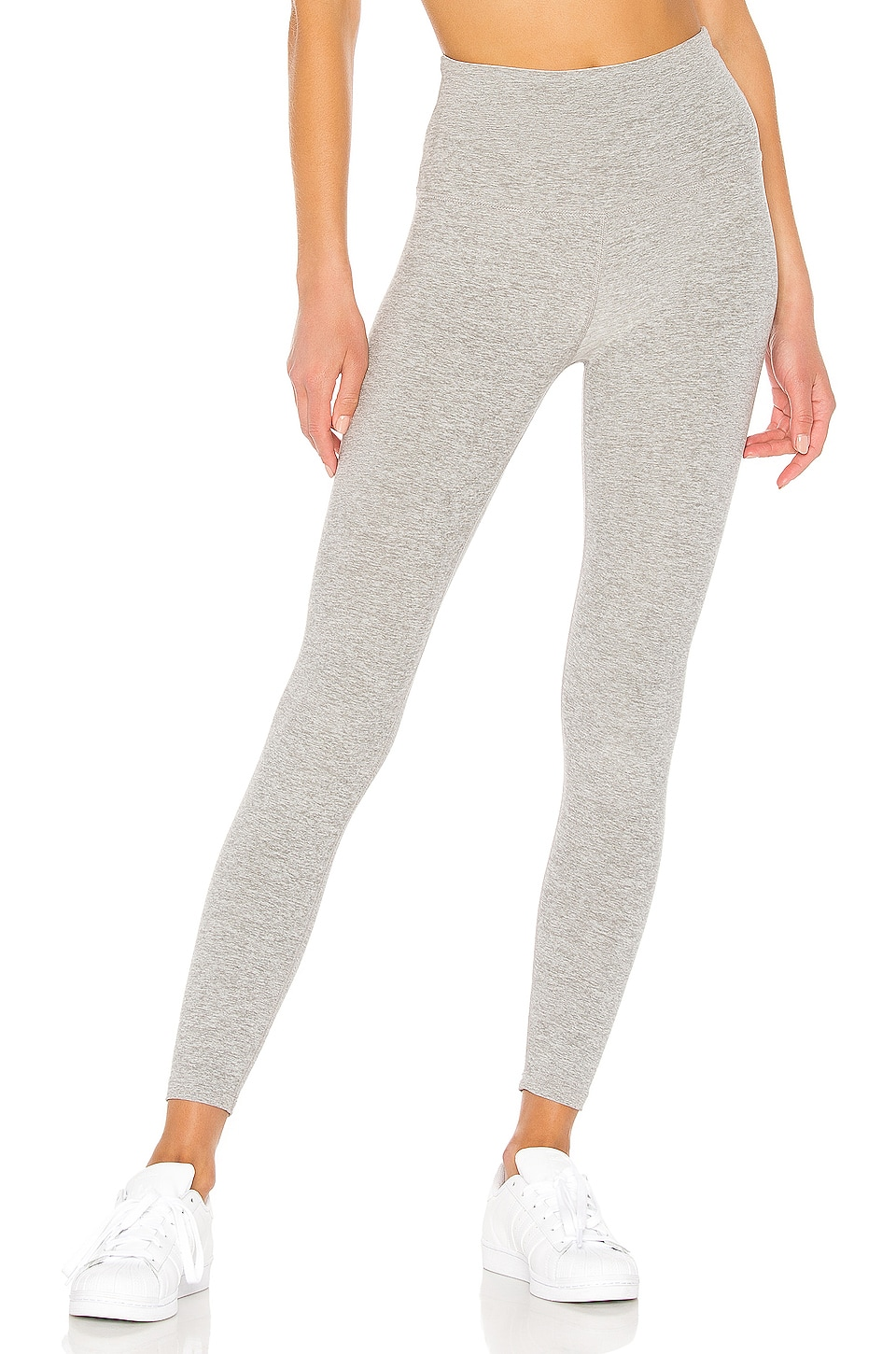 Beyond Yoga Spacedye Caught In The Midi High Waisted Legging in Silver Mist