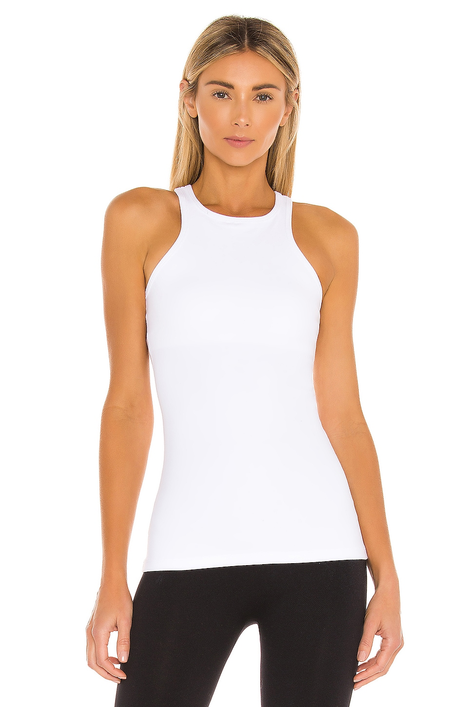 Beyond Yoga Under Lock and Keyhole Tank in White